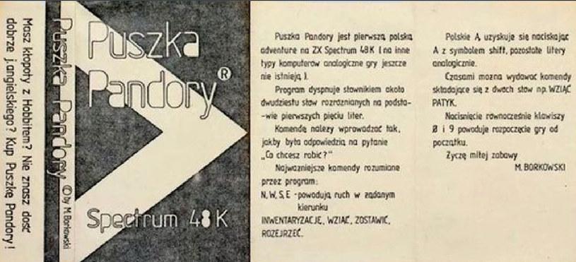 Fragment ogłoszenia reklamującego grę Puszka Pandory - zdjęcie zamieszczone w serwisie pixepost.pl /materiały źródłowe