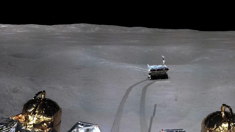 Fragment panoramy miejsca lądowania misji Chang'e 4 /materiały prasowe