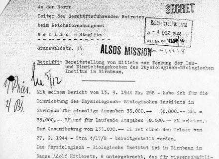Fragment pisma doktora Streita do Rady Badań Naukowych Rzeszy /Odkrywca
