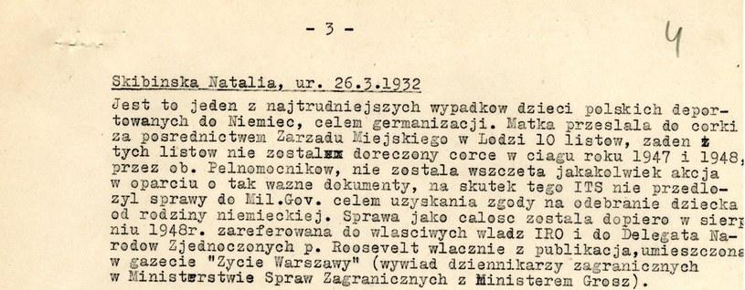 Fragment pisma Stefana Tyszki z Delegatury PCK (odniesienie do zarzutów stawianych przez WIktora Pietruszke) do Delegata Głównego PCK na Niemcy K. Rudzińskiego (28.2.1949). Dokument znajduje się w AAN /INTERIA.PL