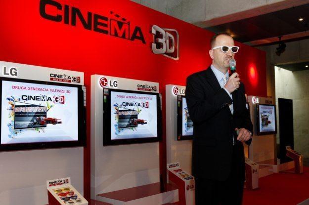 Fragment prezentacji najnowszych telewizorów 3D od LG /materiały prasowe