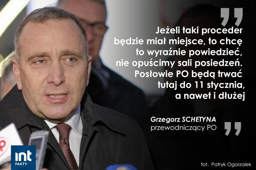 Fragment przemówienia Grzegorza Schetyny po spotkaniu z prezydentem Andrzejem Dudą /INTERIA.PL