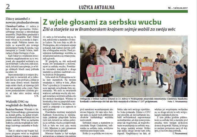 """Fragment strony gazety """"Nowy Casnik"""" /Interia.pl /"""