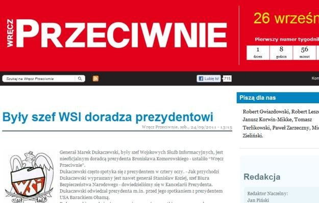 Fragment strony internetowej http://wprostp.pl/ /