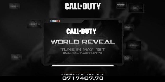 Fragment strony odliczającej czas do ujawnienia Call of Duty: Black Ops 2? /Informacja prasowa