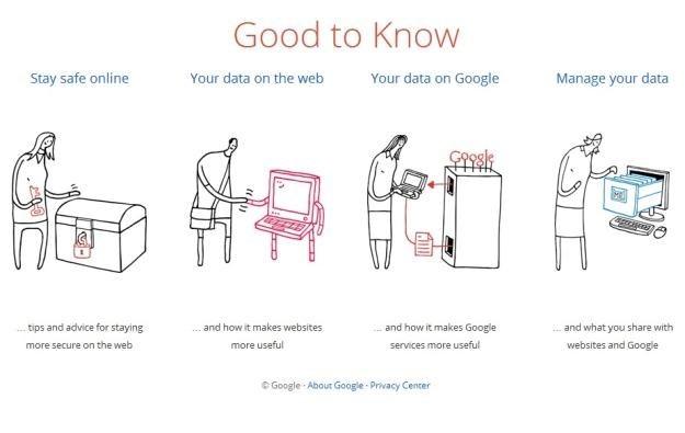"Fragment strony projektu ""Good to Know"".   Fot. Google /Internet"