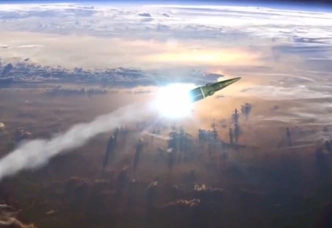 Fragment symulacji lotu rakiety Topol-M /YouTube