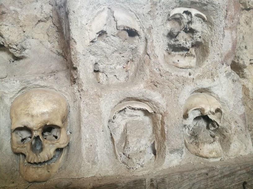 Fragment Wieży Czaszek. Widoczne są puste miejsca po czaszkach, które pochowali członkowie rodzin /Sławek Zagórski /INTERIA.PL