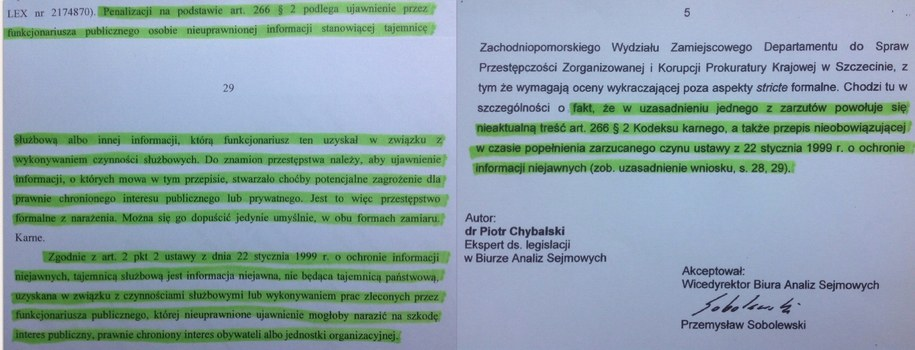 Fragment wnioski i końcówka analizy BAS /Tomasz Skory  /RMF FM