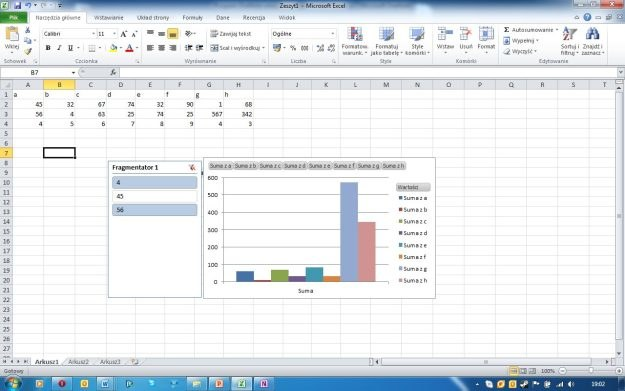 Fragmentatory w Excelu to funkcja pozwalająca na łatwe filtrowanie danych na tabelach i wykresach /INTERIA.PL