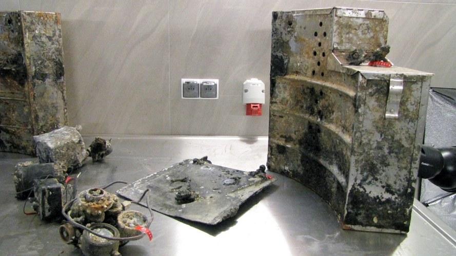Fragmenty bombowca Douglas znalezione w Bałtyku /Kuba Kaługa /RMF FM