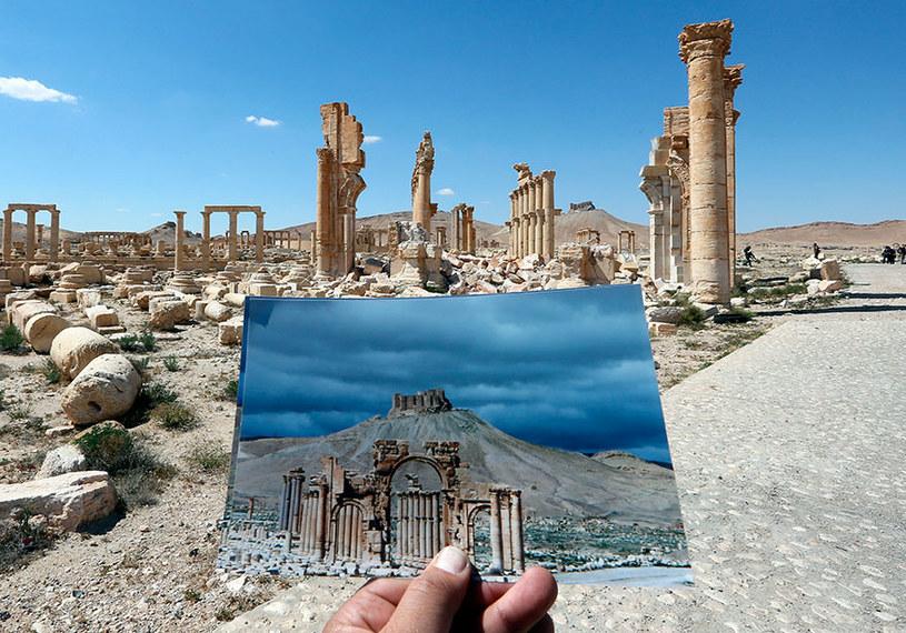 Fragmenty łuku triumfalnego /JOSEPH EID / AFP  /AFP