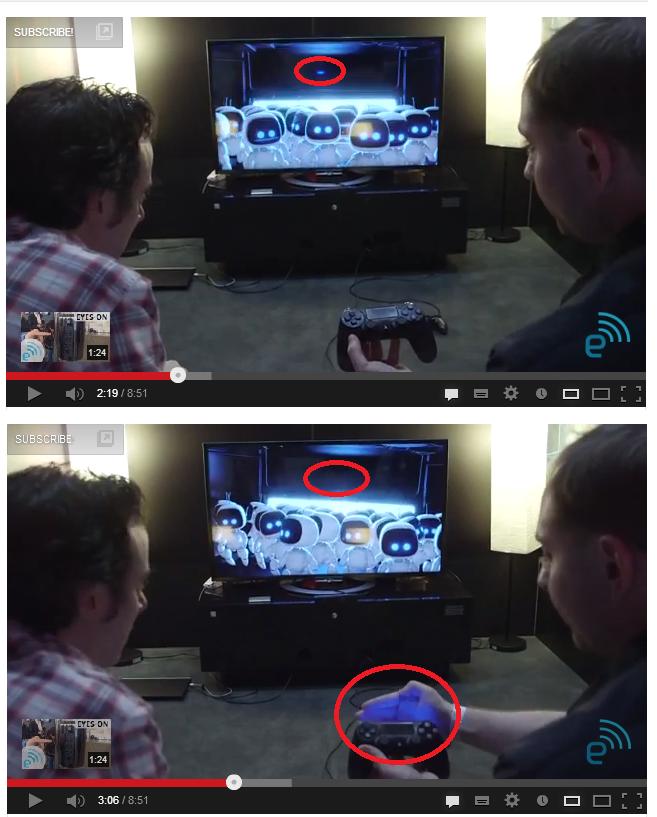 Fragmenty materiału filmowego, na którym redaktorzy serwisu Enganget testują nową konsolę Sony /materiały prasowe