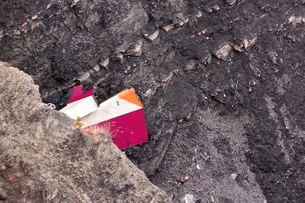Fragmenty niemieckiego Airbusa 320 w Alpach fot. Denis Bois /AFP
