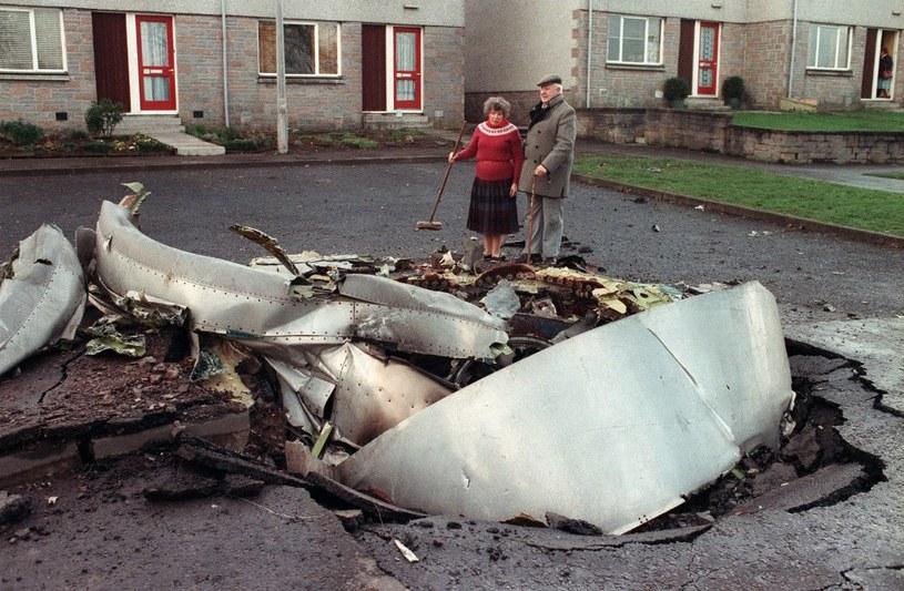 Fragmenty samolotu spadły na Lockerbie - zginęło 11 mieszkańców miasteczka /AFP