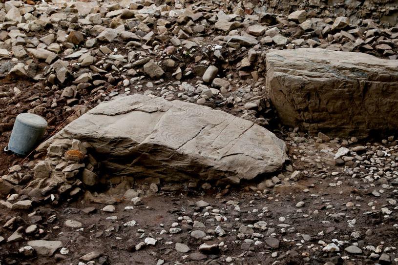 Fragmenty skał otaczające grobowiec /Fot. University College Dublin /materiały prasowe