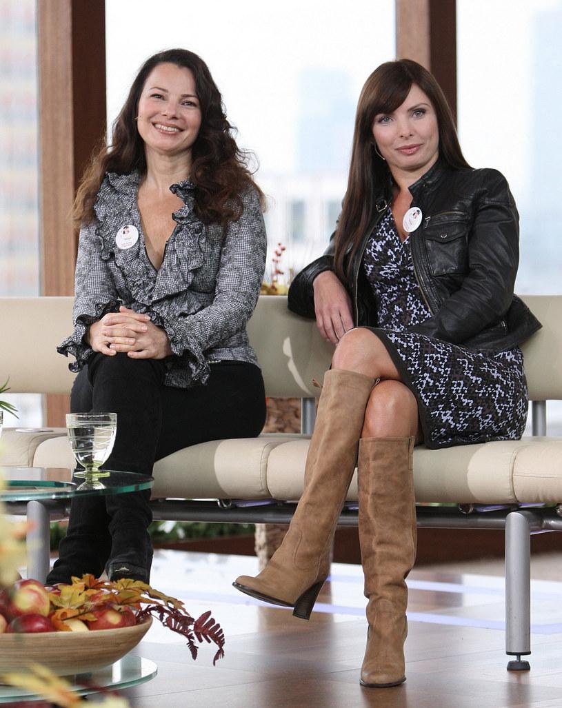Fran Drescher i Agnieszka Dygant w 2008 roku /Bartosz Krupa /East News