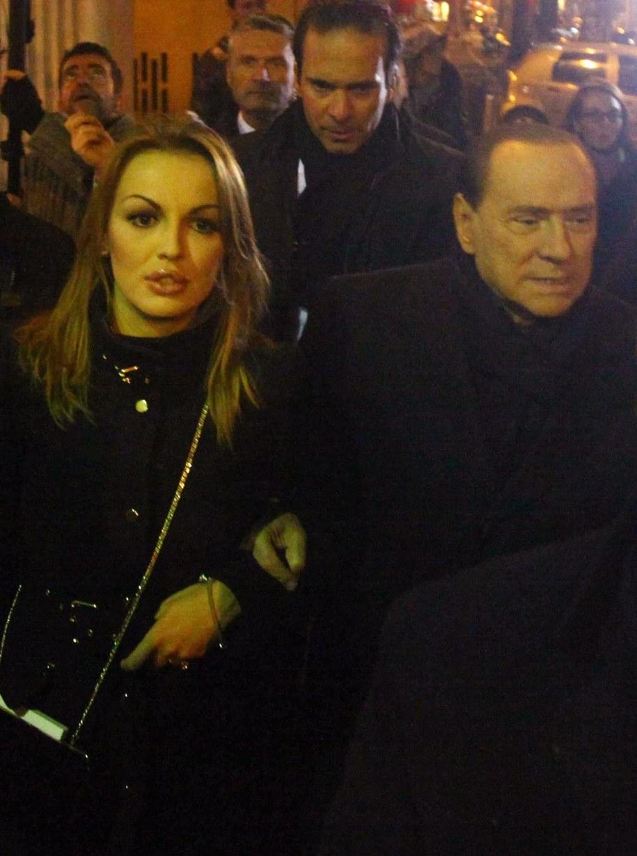 Francesca Pascale i Silvio Berlusconi /fot. STEFANO PORTA /PAP/EPA