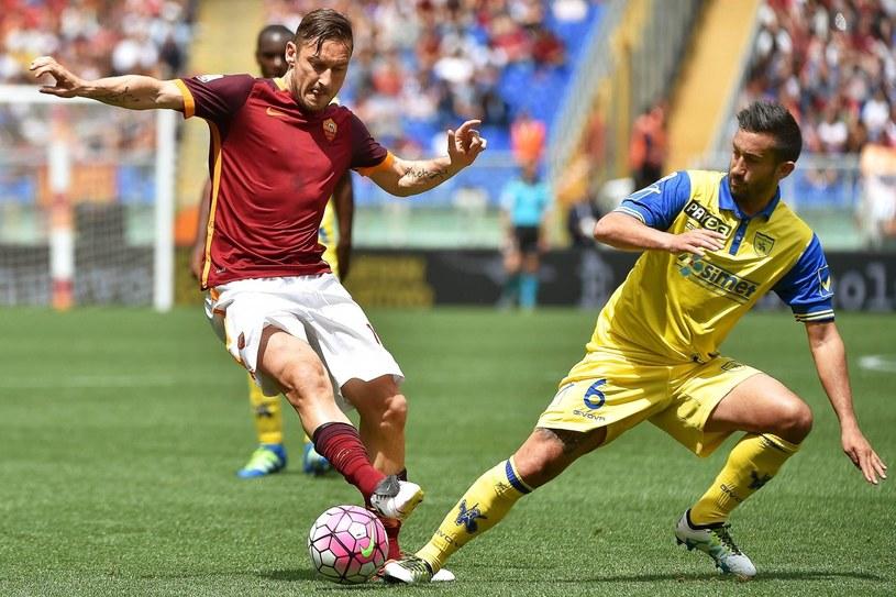 Francesco Totti (z prawej) /PAP/EPA
