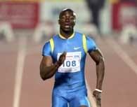 """Francis Obikwelu wygrał """"100"""" w Doha /AFP"""