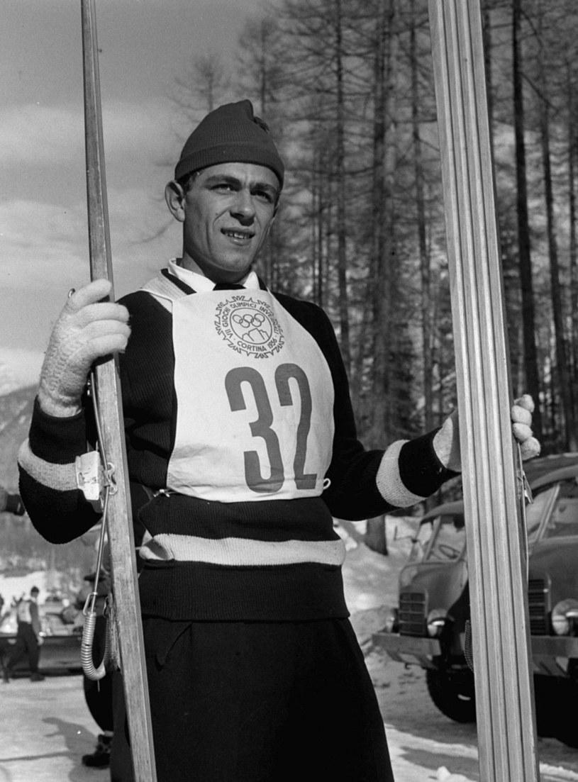 Franciszek Gąsienica Groń na zdjęciu z 1956 roku /Jerzy Baranowski /PAP