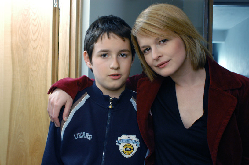 Franciszek Przybylski ze swoją serialową mamą Dominiką Ostałowską /Prończyk /AKPA