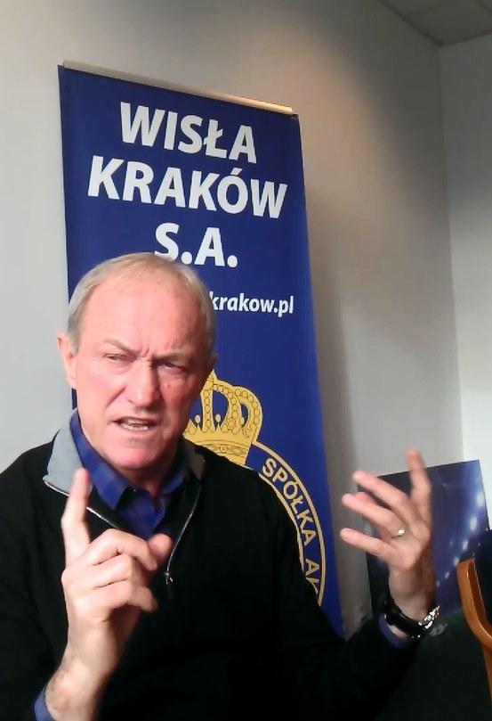 Franciszek Smuda mówi jak jest w Wiśle Kraków. /Michał Białoński /INTERIA.PL