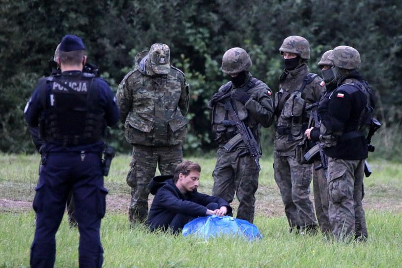 Franciszek Sterczewski na granicy polsko-białoruskiej /Jakub Kaminski/ /East News