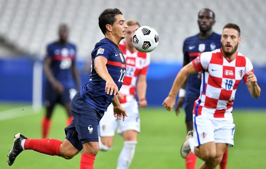 Francja pokonała u siebie Chorwację 4:2 w piłkarskiej Lidze Narodów /PASCAL BONNIERE /PAP/EPA