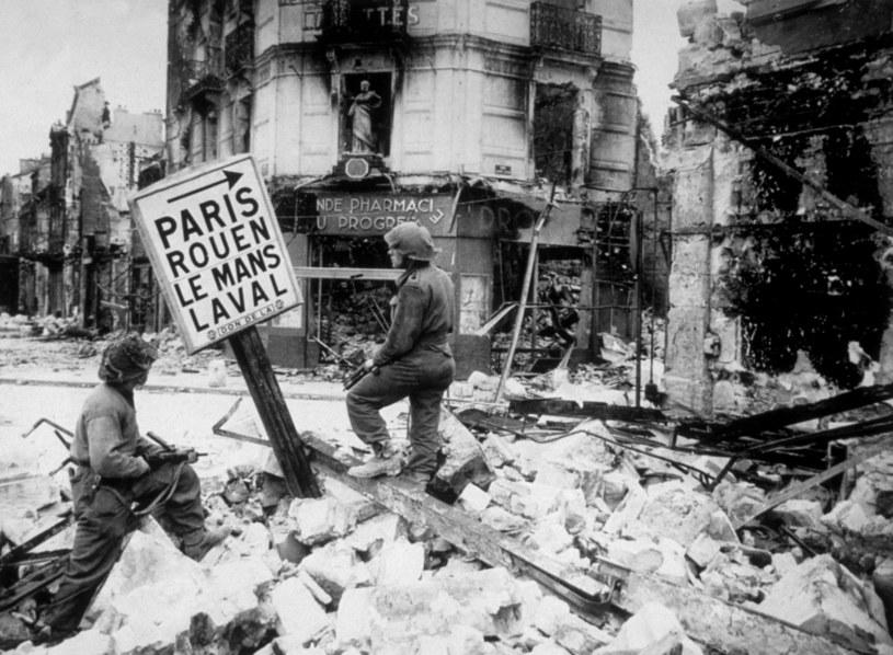 Francja w czasie II wojny światowej, Caen 1944. /Getty Images