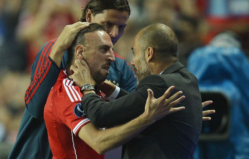 Franck Ribery i Josep Guardiola /AFP