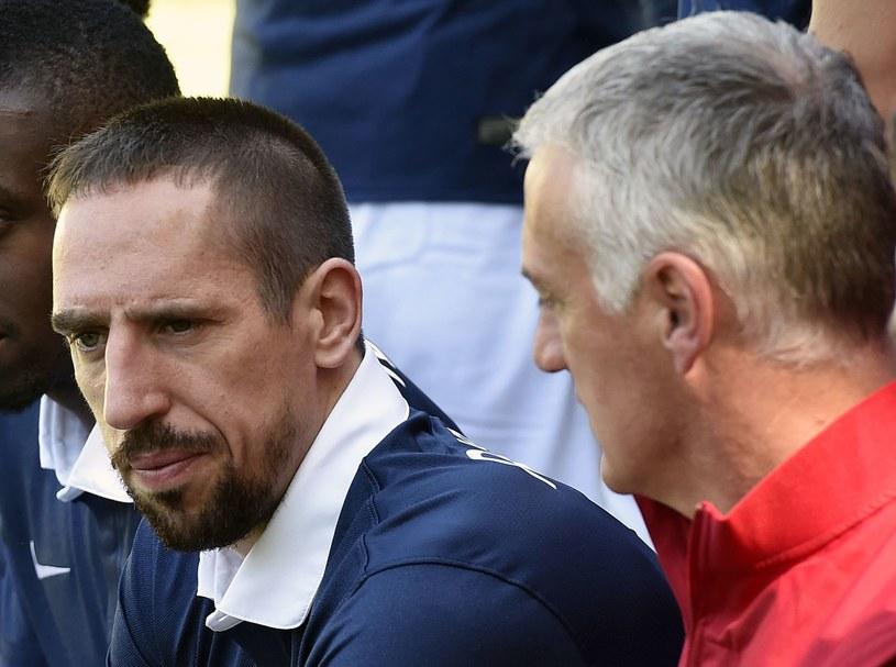 Franck Ribery i selekcjoner Francuzów Didier Deschamps /AFP