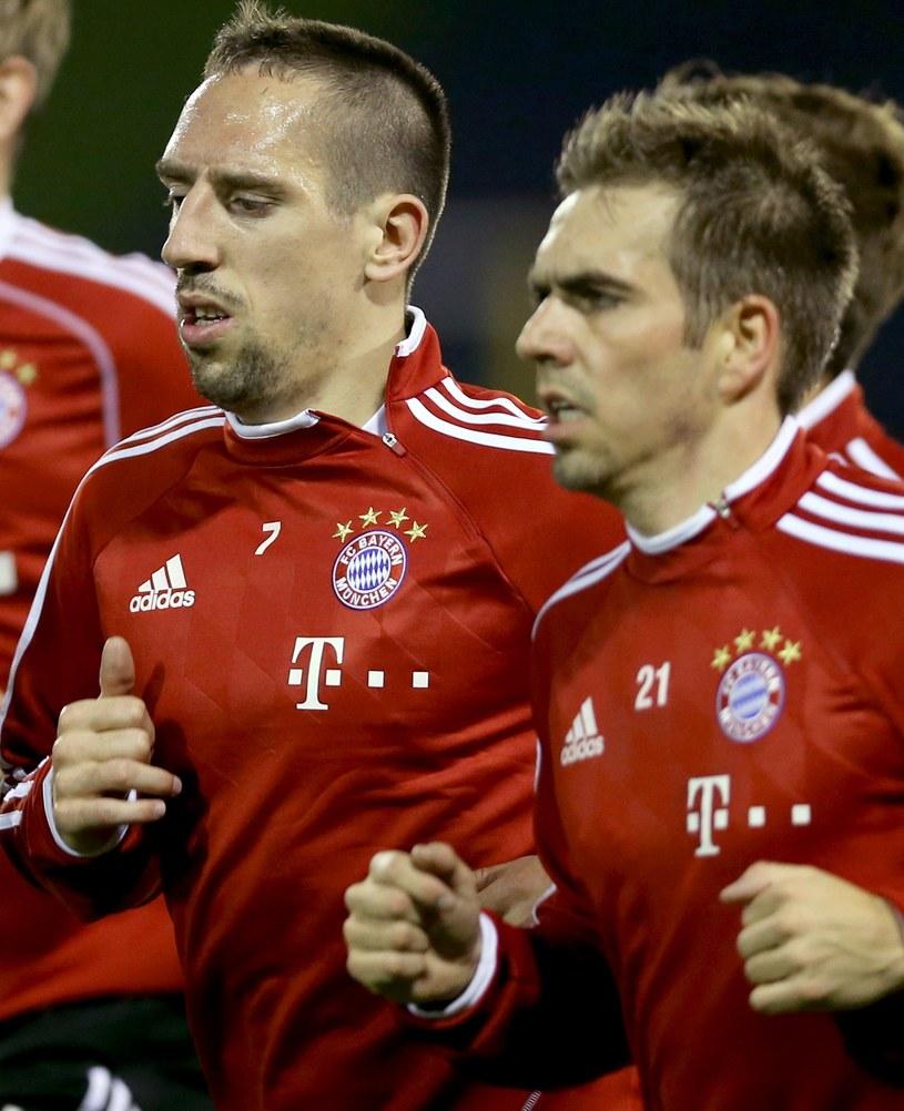 Franck Ribery (z lewej) i Philipp Lahm z Bayernu Monachium /AFP