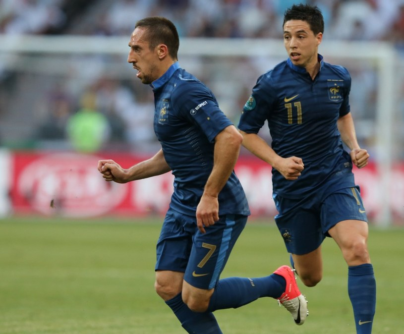 Franck Ribery (z lewej) i Samir Nasri /AFP