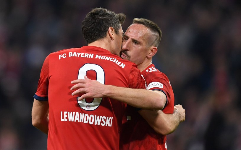 Franck Ribery (z prawej) i Robert Lewandowski /AFP