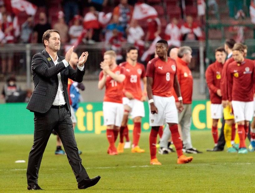 Franco Foda (z lewej) /AFP