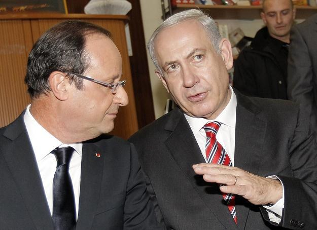 Francois Hollande i Benjamin Netanjahu /PAP/EPA