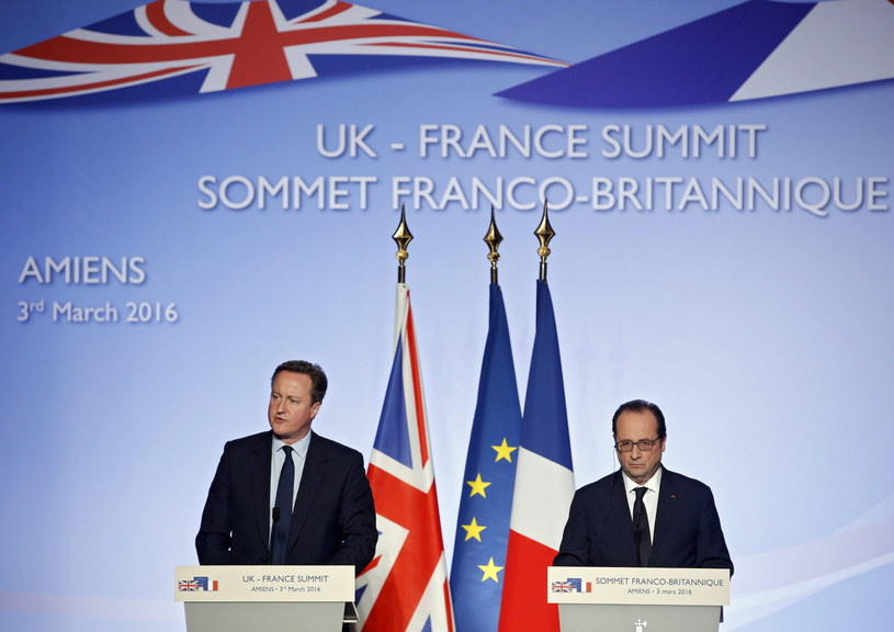 Francois Hollande i David Cameron /PAP/EPA
