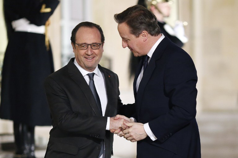 Francois Hollande i David Cameron /AFP