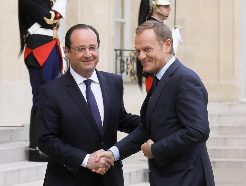 Francois Hollande i Donald Tusk /Paweł Supernak /PAP
