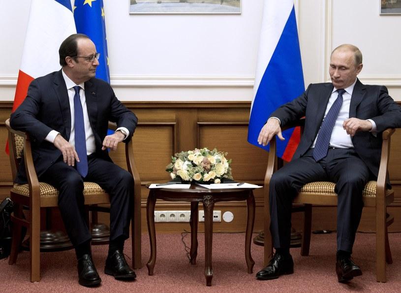 Francois Hollande i Władimir Putin /AFP