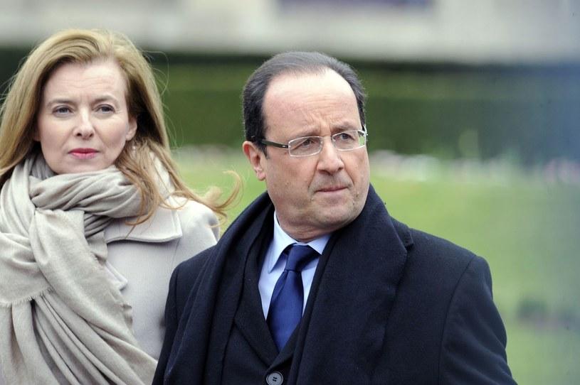 Francois Hollande z byłą partnerką /AFP