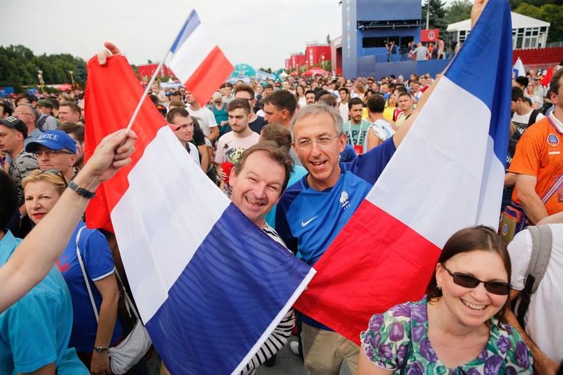 Francuscy kibice w Moskwie /AFP