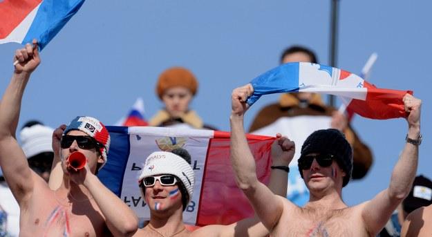 Francuscy kibice wspierają swoich alpejczyków /VASSIL DONEV /PAP/EPA