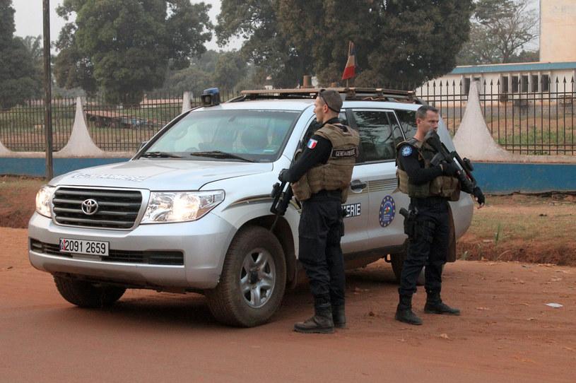 Francuscy żołnierze w Bangui, gdzie trwały negocjacje z porywaczami /AFP