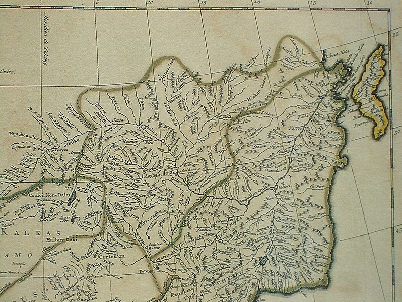 Francuska mapa Chin z 1734 roku, na której widnieje miasto Jaxa /Getty Images/Flash Press Media