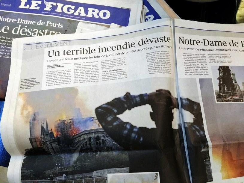 Francuska prasa cały czas żyje tematem zniszczonej katedry Notre Dame /Ewelina  Karpińska-Morek /INTERIA.PL