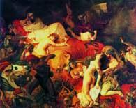 Francuska sztuka: Eugčne Delacroix, Śmierć Sardanapala /Encyklopedia Internautica