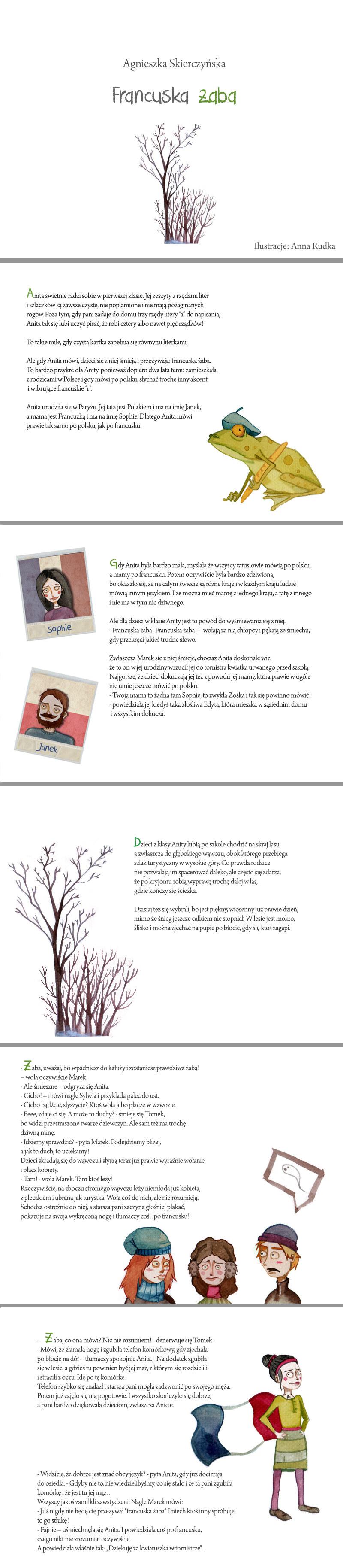 Francuska żaba - tekst Agnieszka Skierczyńska, ilustracje Anna Rudka /INTERIA.PL