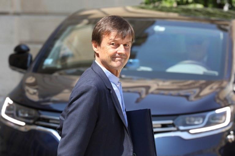 Francuski minister ds. transformacji ekologicznej i solidarnościowej Nicolas Hulot /LUDOVIC MARIN /AFP